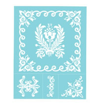 Damask Adhesive Silkscreen, 1 sheet