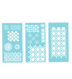 Geometric Patterns Large Laser Cut Stencils, 12 Designs