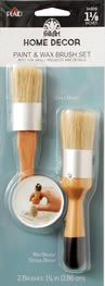 FolkArt Home Decor Paint and Wax Brush Set