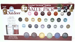 Plaid FolkArt 32 Color Outdoor Brush On Paint Set