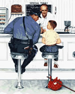 The Runaway Norman Rockwell Paint by Number