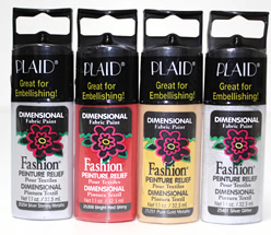 Plaid Fashion Dimensional Fabric Paint