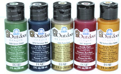 Plaid FolkArt Outdoor Acrylic Paint Bottles - Do it all!