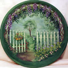 Picket Gate Garden by Sharon Buononato ... : unfinished wooden plates - pezcame.com