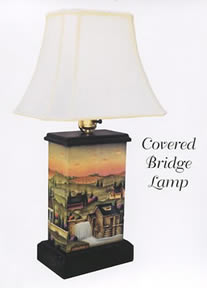 Covered Bridge Lamp Design by Betty Caithness