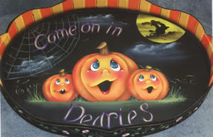 All Hallows Eve Serving Tray packet by Bobbie Campbell, CDA