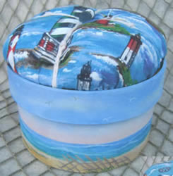 Seascape Pin Cushion box by Debby Forshey Choma