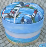 Seascape Pin Cushion Box by Debby Forshey-Choma