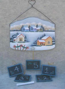 Countdown to Christmas Tavern Board by Debby Forshey Choma