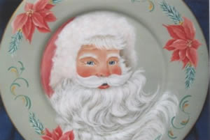 Santa in Pink Packet by Pam Gonnason