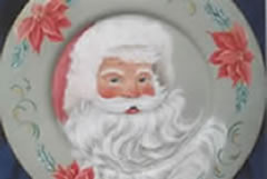 Santa in Pink by Pam Gonnason