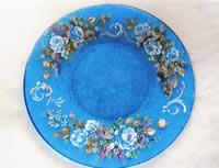 Forget-Me-Not Roses and Lilacs Plate by Margit Hartl
