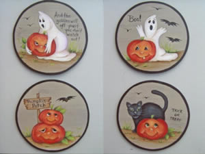 Halloween Coaster Set by Marlene Kreutz
