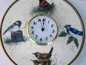 Backyard Birds Clock Plate Packet