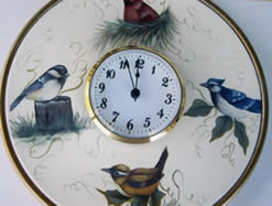 Backyard Birds Clock Plate