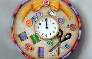 Time to Sew Clock Plate by Julie Polderdyke