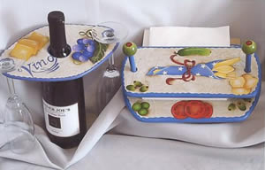 Let's Party Wine Glass Holder and Napkin Holder design packet