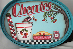 Retro Cherries by Julie Polderdyke
