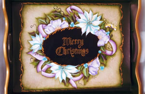 Merry Christmas Tray by Julie Polderdyke