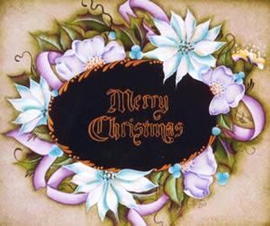 Merry Christmas (Christmas Tray by Julie Polderdyke)