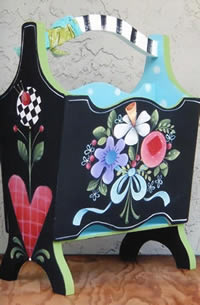 Painted Magazine Rack by Shara Reiner
