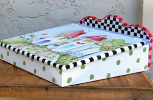 Shara Reiner Painted Lap Desk