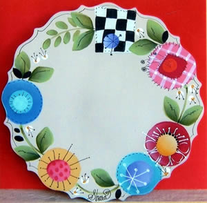 Scalloped Cheese Plate by Shara Reiner
