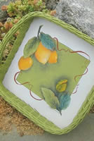 Lemonade! Wicker Serving Tray by Pat Saunders