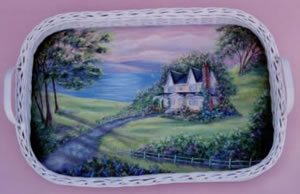 Breakfast by the Sea Wicker Tray Packet