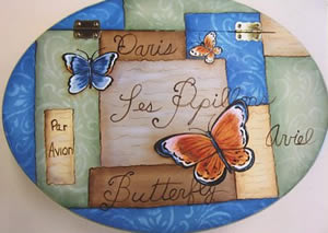 Butterfly and Patches Jewelry Box Packet