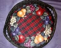 Della Robbia Wreath Wicker Tray by Mary Wiseman