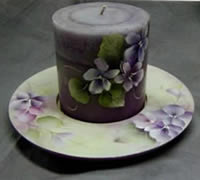 Violet Candle Dish