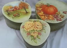Harvest Trio Wedgewood Box Packet Set by Mary Wiseman
