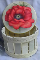 A Single Poppy Basket by Mary Wiseman