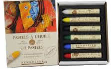 6 Piece Discovery Introductory Oil Pastel Set, Sennelier