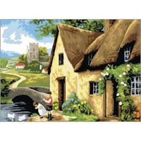 Cottage by the River Senior Paint by Numbers - Royal and Langnickel