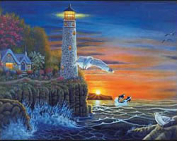 Waterside Lighthouse Senior Painting by Numbers by Royal and Langnickel