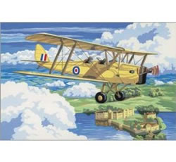 Nostalgic Plane Royal and Langnickel Painting by Numbers