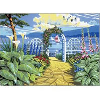 Garden Overlooking the Sea Senior Paint by Number Set by Royal and Langnickel
