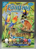 Jungle Scene Junior Small Painting by Numbers