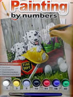 Fire Waggin Junior Small Painting by Numbers
