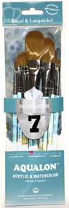 Aqualon 7 Piece Filbert/Oval Wash Brush Set