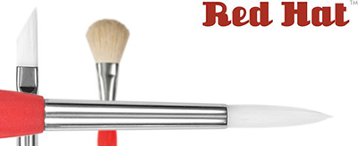 Princeton Red Hat White Synthetic Artist Brushes