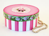 Romantic Paper Mache Round Box