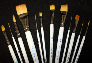 Royal Golden Taklon Brushes