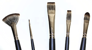 Royal SableTek Oil Painting Brushes, Long Handle