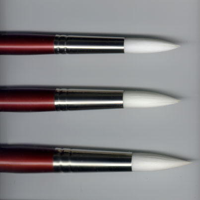 Goliath Pointed Round White Sable Watercolor Brushes by Robert Simmons