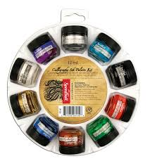 Speedball 10 Color Pigmented Acrylic Ink Set