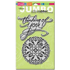 Thinking of You Jumbo Cling Rubber Stamp
