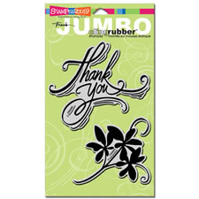 Thank You Jumbo Cling Rubber Stamp Set